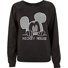 Black Mickey Mouse print sweatshirt - $60