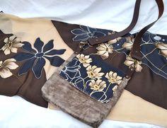 Matching set - Brown/ Cream flowers, £55.00