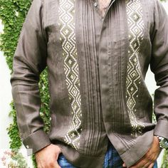 Barong Tagalog, Embroidered Clothes, Plaza, Artisan, Embroidery, Printed, Clothing, Sweaters, Fashion