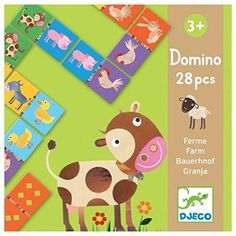 Djeco Farm Dominos (28 pc) -- This is an Amazon Affiliate link. To view further for this item, visit the image link.
