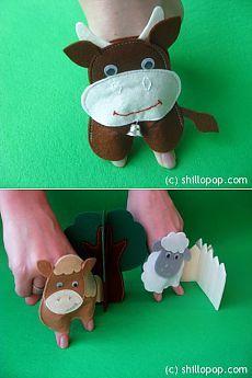 Развивающие игрушки от Shill O'POP » Ферма – шагающие пальчиковые игрушки Sewing For Kids, Diy For Kids, Crafts For Kids, Baby Sewing, Felt Finger Puppets, Hand Puppets, Dolls And Daydreams, Felt Crafts Diy, Puppet Crafts