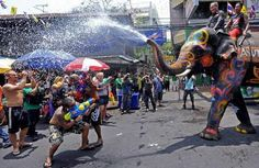 Songkran in Thailand has officially started! Happy Thai New Year!