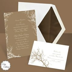 rustic wedding invitations at Ann's Bridal Bargains