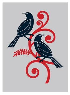 "print by Greg Straight ""Two Tui"""