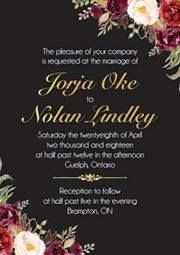 A beautiful wedding invitation from the talents behind ID Inspired Designs Stationary.