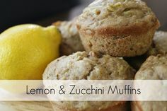 Sweet and savoury lemon & zucchini muffin recipe. The perfect grab & go breakfast!