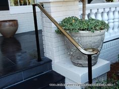 Miami FL Fort Lauderdale FL custom wrought iron railings Raleigh Wrought Iron Co… – ferforge Porch Step Railing, Wrought Iron Porch Railings, Rod Iron Railing, Porch Handrails, Exterior Stair Railing, Outdoor Stair Railing, Iron Handrails, Front Porch Steps, Hand Railing