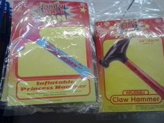 Pointlessly gendered inflatable novelty hammers. Thanks @ Kirsty_Nicol and @ Day_Jess!