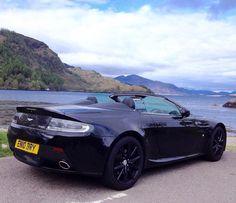 Aston Martin Vantage in the Scottish highlands