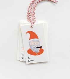 Santa Gift Tags from Rifle Paper Co #santa #gift tags