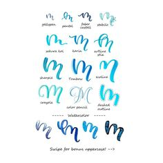 Variationen Buchstabe A - Handlettering Hand Lettering Alphabet, Doodle Lettering, Creative Lettering, Lettering Styles, Calligraphy Letters, Brush Lettering, Calligraphy Tutorial, Hand Lettering Tutorial, Letras Cool