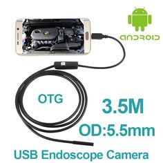 10pcs/lot Android Phone OTG Inspection Camera 3.5M 5.5mm lens Endoscope inspection Pipe IP67 Waterproof 720P HD micro USB Camera