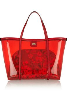 Dolce & Gabbana Escape leather-trimmed PVC tote | NET-A-PORTER