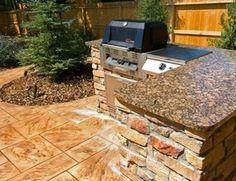 Outdoor Granite Countertops Outdoor Kitchen American Design & Landscape Parker, CO