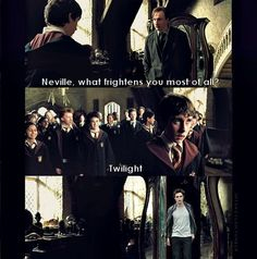 Funny Harry Potter Memes Only True Fans Will Understand. Harry Potter Puns or Harry Potter Dog Names yet Harry Potter And The Cursed Child Theater near Harry Potter Broadway Director Harry Potter Twilight, Funny Twilight, Twilight Hate, Harry Potter Humor, Harry Potter Imagines, No Muggles, Neville Longbottom, Harry Potter Pictures, Harry Potter Wallpaper
