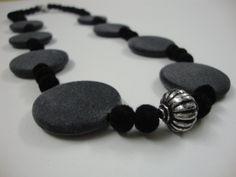 velvet pebble necklace