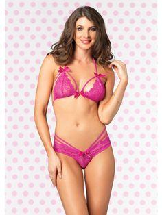 Pretty Pink`Underwired//Unpadded Bra With Complimentary Cute Micronet Peek Breif