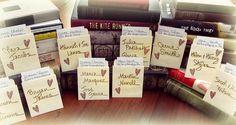 Super Fun Library Book Pocket Escort Cards  www.bigflourish.com