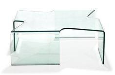 Madonna Tempered Glass Coffee Table - Clear Glass | Zuri Furniture