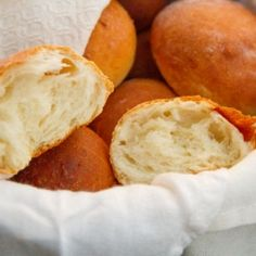 Buttermilk Dinner Rolls are crusty on the outside and soft and tender inside.