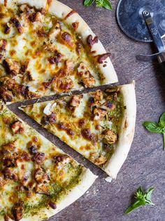 chicken pesto pizza #pizza #pesto #chicken