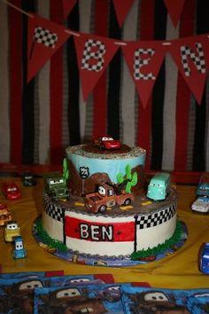 Disney Pixar Cars birthday cake
