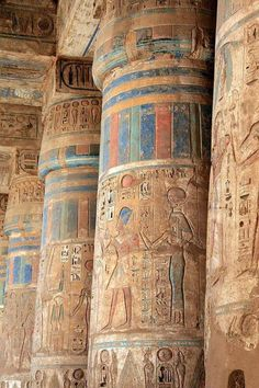 Medinet Habu Temple in Luxor, Egypt