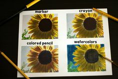 print pics in black & white on cardstock then color them in. Love this from @makeandtakes