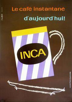 Inca Coffee : Fritz Buhler c. 1960