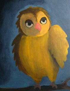 Original Acrylic Painting   At Night by EvelynX on Etsy, $50.00
