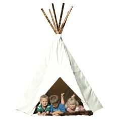 You and the children in your life will countless hours of creative play in this one of a kind, handmade, X-Large Plain Tipi #huntersalley