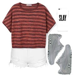 """Untitled #651"" by lelephant ❤ liked on Polyvore featuring Topshop, MANGO and NIKE"