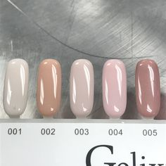 Gelixir collection gel polish UV/LED soak off gel polish colors. Please scroll down to choose the colors you want. Tan Nails, Neutral Nails, Hair And Nails, Shellac Nails, Matte Nails, Gelish Nail Colours, Gel Polish Colors, Vernis Gel Uv, Gel Nail Polish Brands