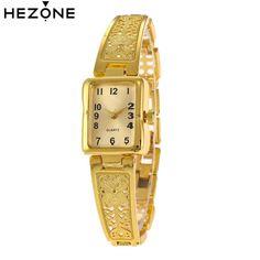546e96e2b0c Aliexpress.com   Buy HEZONE Luxury Women Watch Gold Fashion Design Bracelet  Watches Elegant Ladies Women Quartz Dress Wrist Watches Relogio Femininos  from ...