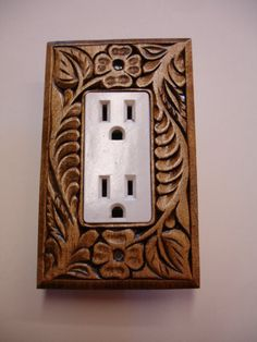 Single electric switch or outlet cover plate by creativemind44, $22.00