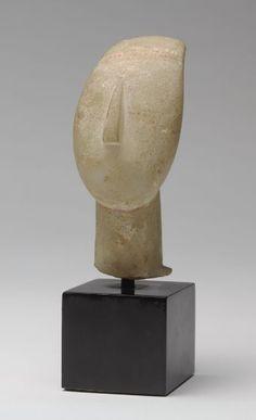 Cycladic Head, 2600-2500 BC Sculpture , Head Cycladic , 3rd millennium BC Cycladic period, Early, c. 3000-2200 BC