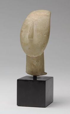 Cycladic Head, 2600-2500 BC Sculpture , Head Cycladic , 3rd millennium BC Cycladic period, Early, c. 3000-2200 BC