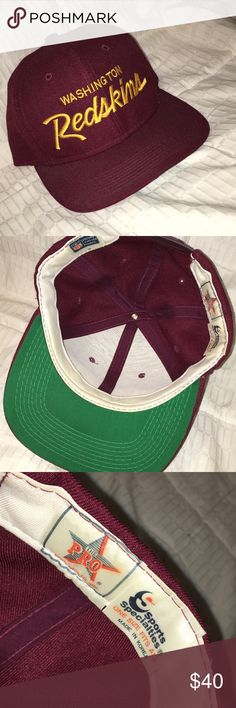 cab573c7f7442 RARE This is a new never worn vintage Washington redskins snap. Sports  specialties I have a clean