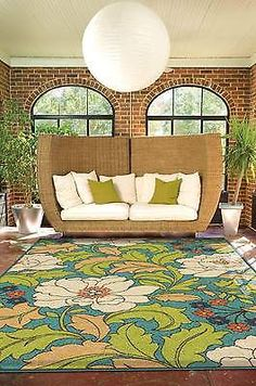 AREA RUG SALE, Green Tropical Floral Indoor/Outdoor Carpet 5X8 44174 - http://www.ebay.com/itm/AREA-RUG-SALE-Green-Tropical-Floral-Indoor-Outdoor-Carpet-5X8-44174-/291655182045 #arearugs