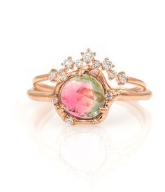 Rose Gold Sparkly Tourmaline Stack - Audry Rose