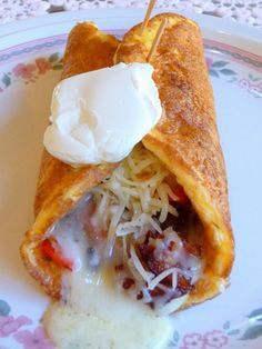 BREAKFAST BURRITO - this was delicious.  Fill it with your favorite Mexican fixings, if desired, such as taco meat, salsa, jalapenos, cheese and sour cream. Visit us on Facebook at Low-Carbing Among Friends.