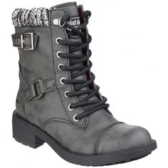 Thunder Lace Up Black Boots
