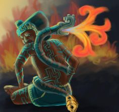 Xiuhtecuhtli was the god of fire and time who was associated with the Aztec New…