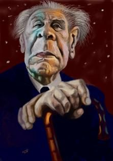 Jorge Luis Borges,Argentinian Writer, by gandalf