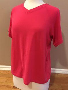 Champion Women's Work Out Gym T-Shirt Size XL Pink Performance Fabric  | eBay