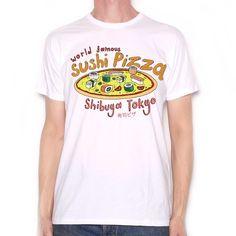 Old Skool Hooligans Crazy Food T Shirt - Sushi Pizza Shibuya Tokyo