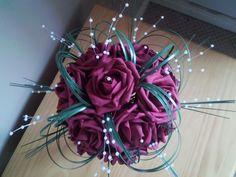 Very pretty DIY bouquet-Tracie, bridesmaids?? :)