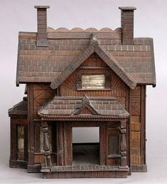 American Folk Art Model of a House, C.1900