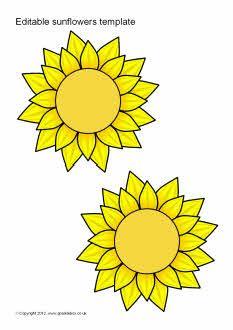 Editable sunflower templates (SB7065) - SparkleBox