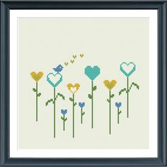 A sweet modern flower cross stitch pattern.  Fits in a 8 inch embroidery hoop (14 count).  The pattern comes as a PDF file that youll will be able to